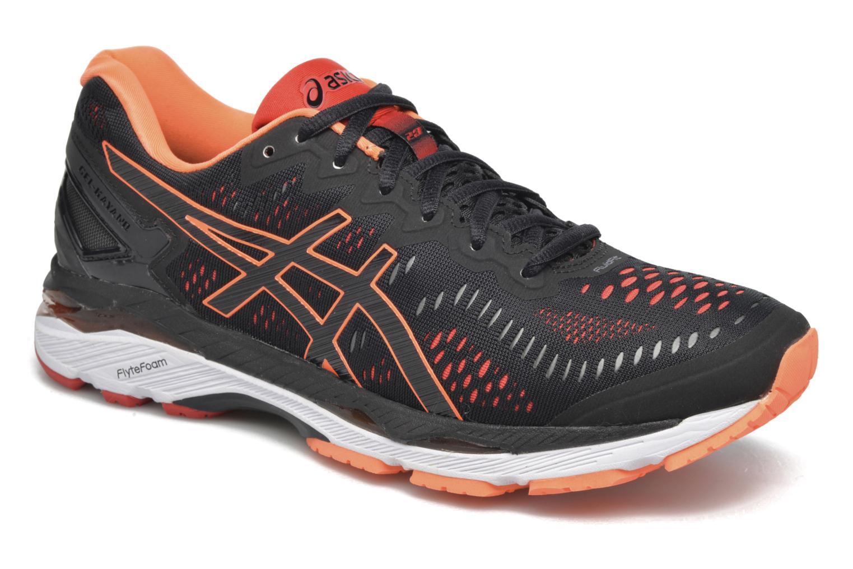 Sport shoes Asics Gel-Kayano 23 Black detailed view/ Pair view