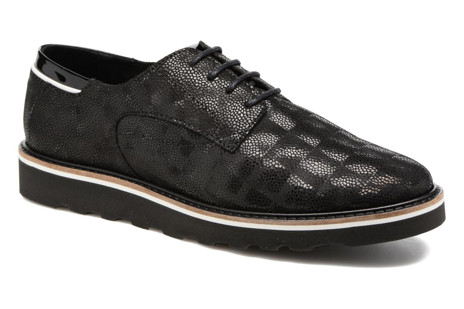 Lace-up shoes TBS Typhany Black detailed view/ Pair view