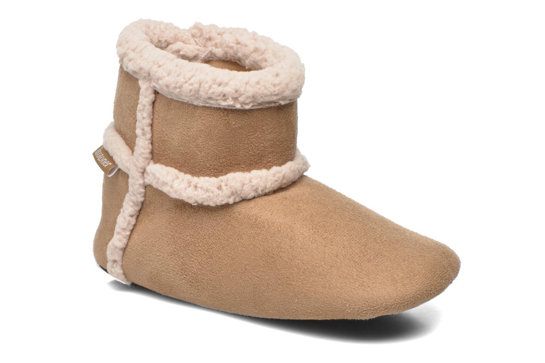 Booties suédine Camel