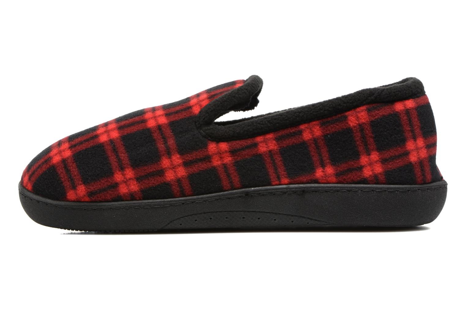 Slippers Isotoner Charentaise Ergonomique Polaire Red front view
