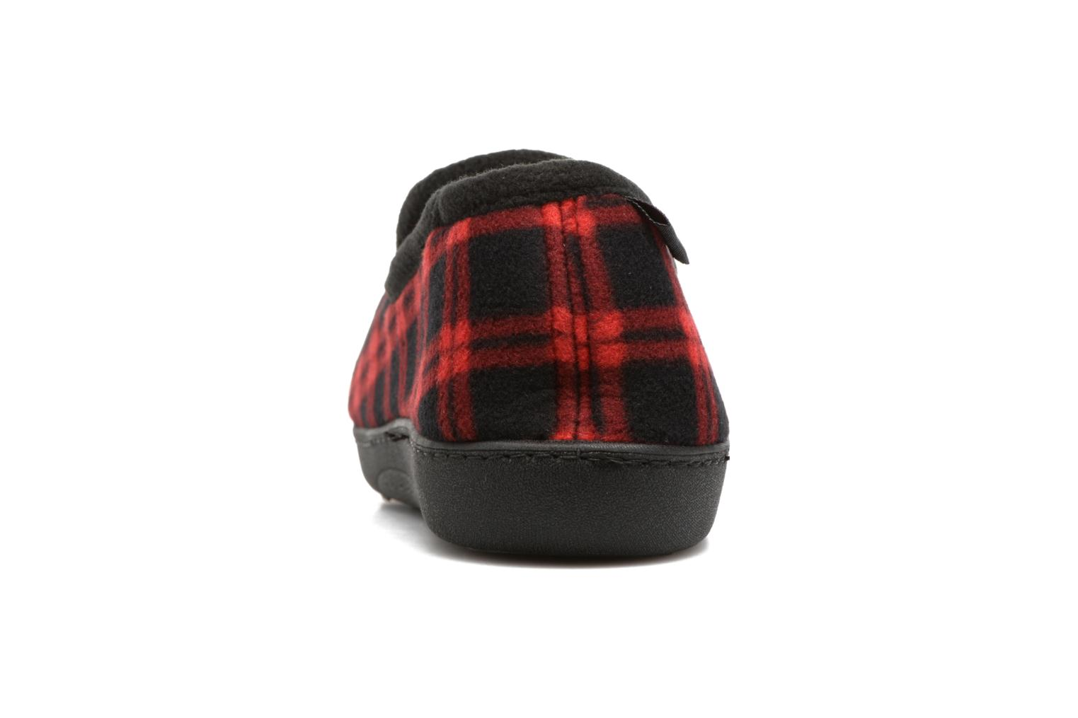 Slippers Isotoner Charentaise Ergonomique Polaire Red view from the right