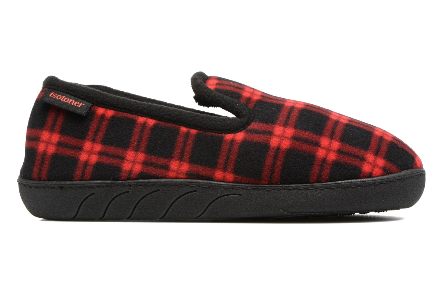 Slippers Isotoner Charentaise Ergonomique Polaire Red back view