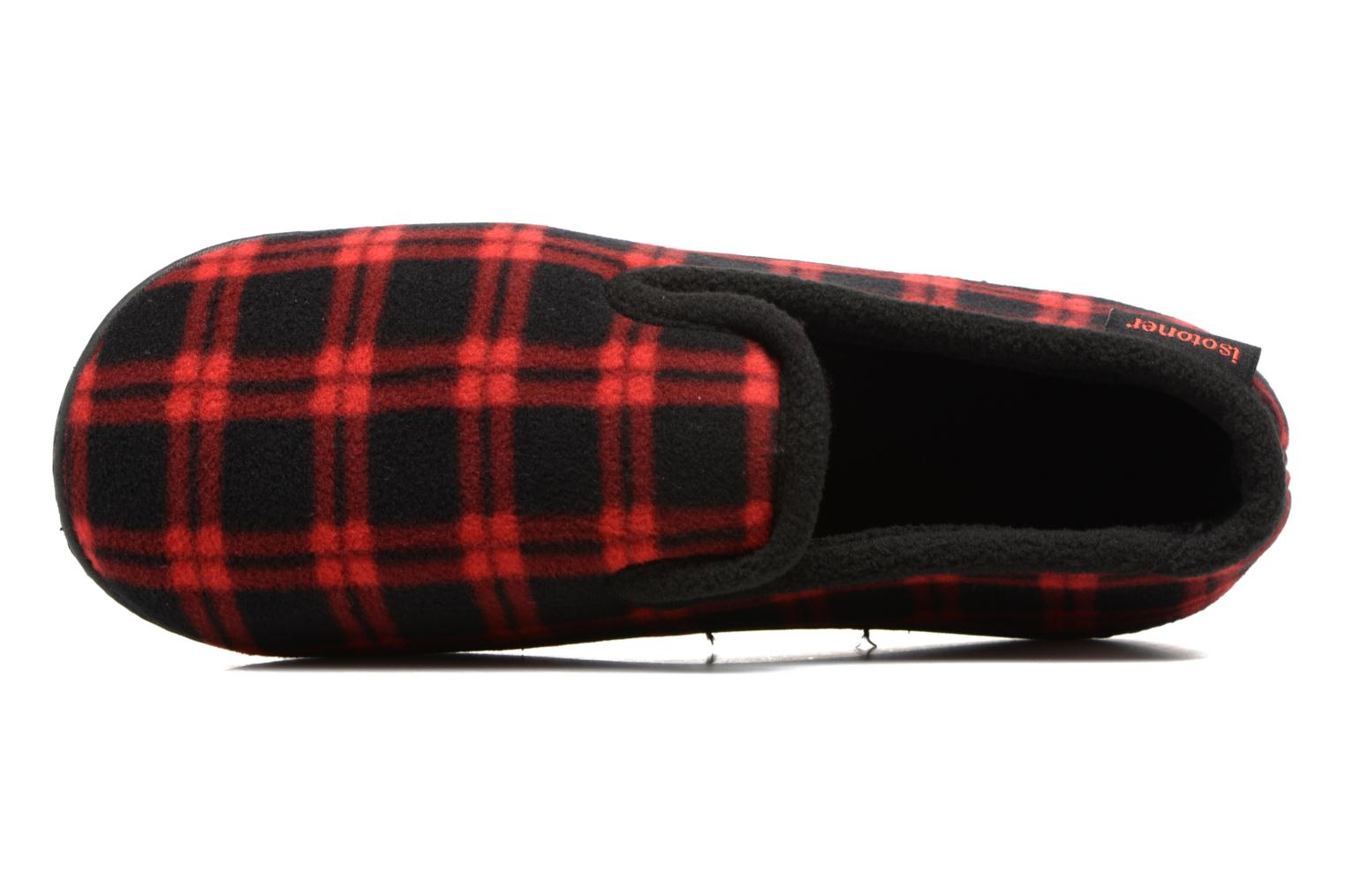 Slippers Isotoner Charentaise Ergonomique Polaire Red view from the left