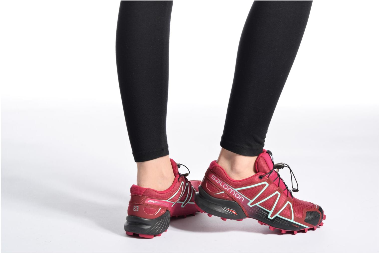 Chaussures de sport Salomon Speedcross 4 W Gris vue bas / vue portée sac