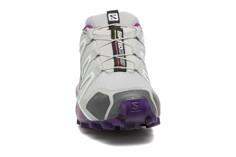 Chaussures de sport Salomon Speedcross 4 W Gris vue portées chaussures
