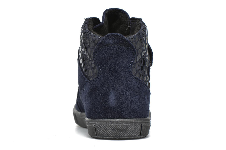 Zapatos con velcro Richter Carl Azul vista lateral derecha