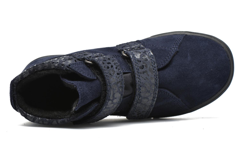 Zapatos con velcro Richter Carl Azul vista lateral izquierda