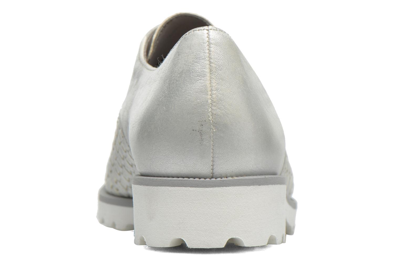Zapatos con cordones Gabor Mariam Plateado vista lateral derecha