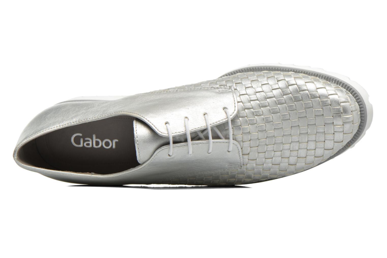 Zapatos con cordones Gabor Mariam Plateado vista lateral izquierda