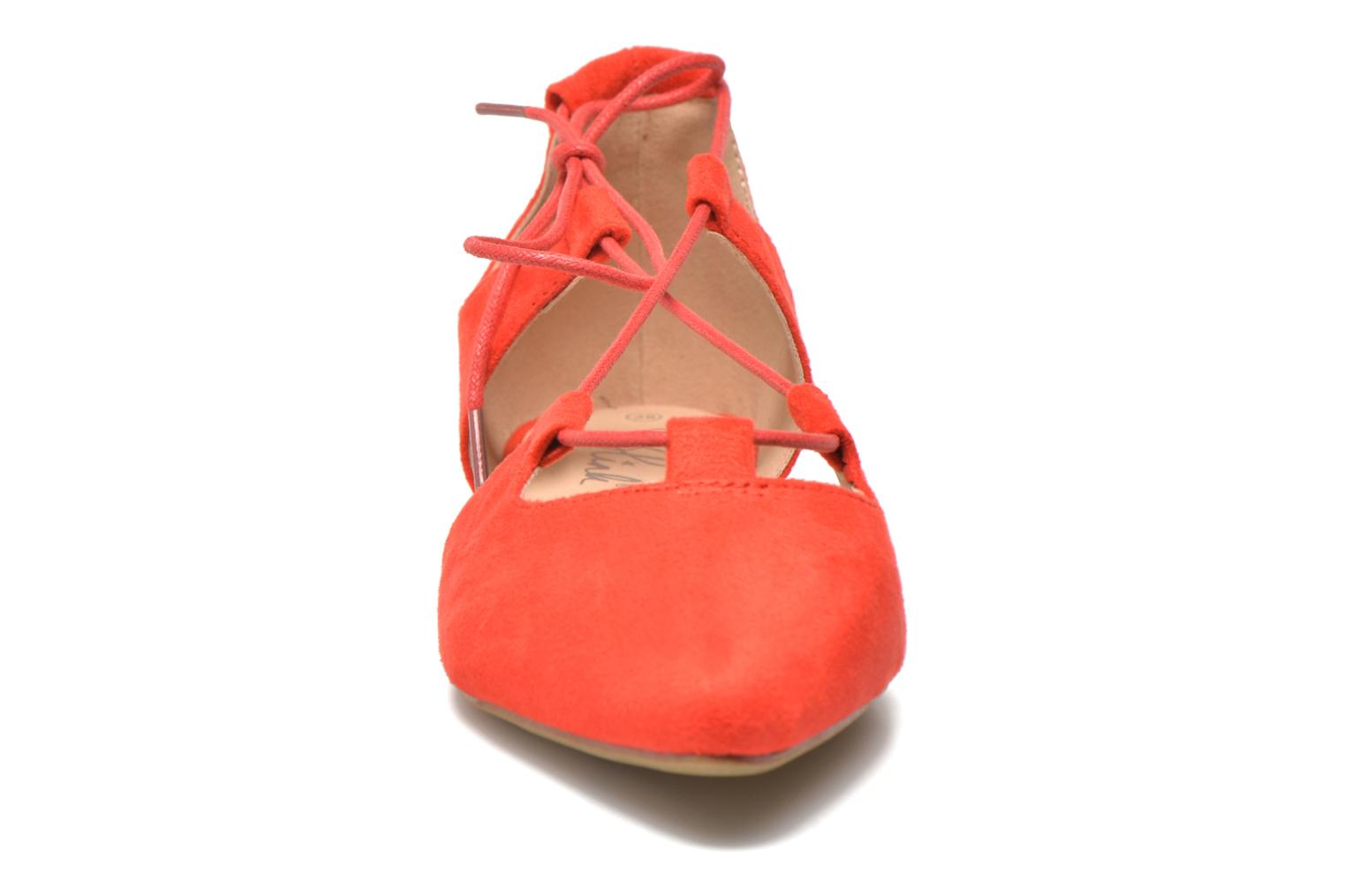 Ballerines Blink New-Imanil Rouge vue portées chaussures