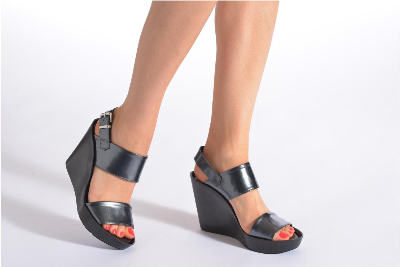 Sandales et nu-pieds Bronx Anner Noir vue bas / vue portée sac
