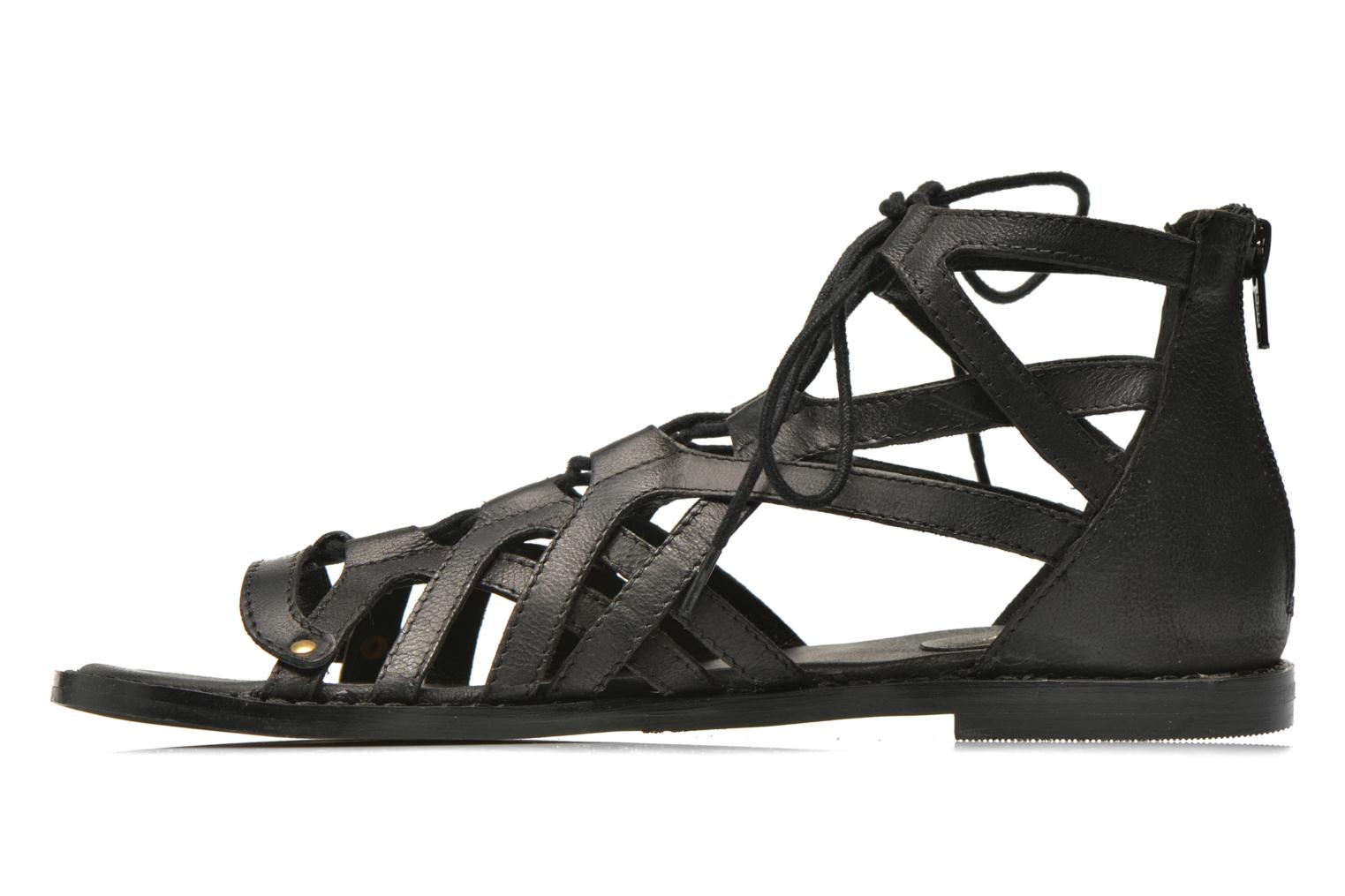 Sandals Bronx Lyona Black front view