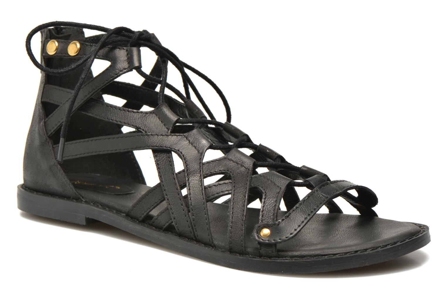 Sandals Bronx Lyona Black detailed view/ Pair view
