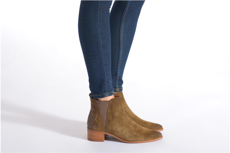 Bottines et boots Bronx Vik Bleu vue bas / vue portée sac