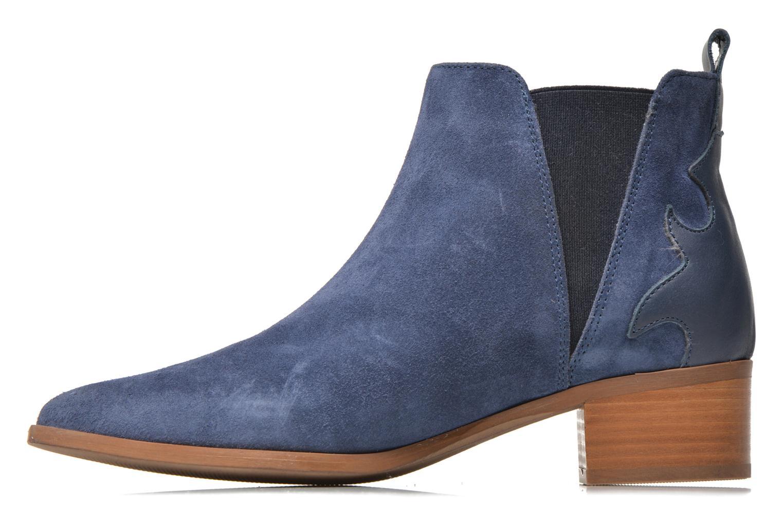 Bottines et boots Bronx Vik Bleu vue face
