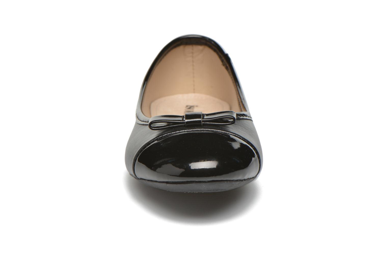 Ballerines Isotoner Ballerine nœud Noir vue portées chaussures