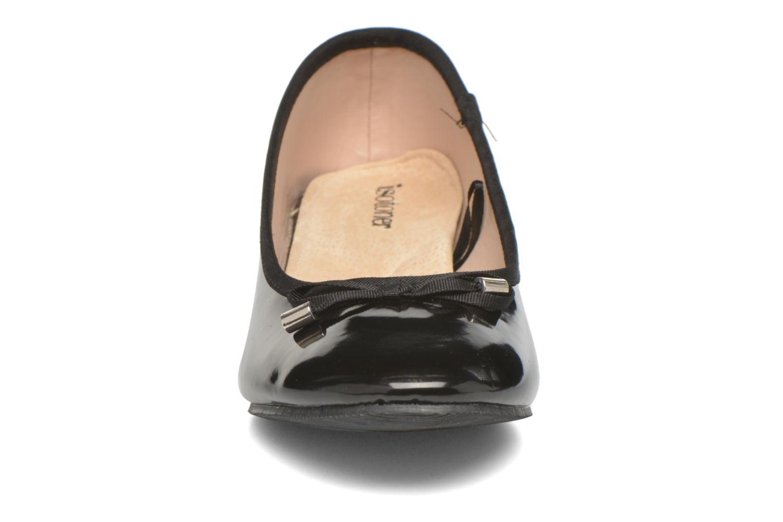 Ballerinas Isotoner Ballerine vernis talon 3 cm schwarz schuhe getragen