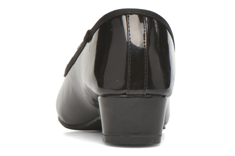 Ballerinas Isotoner Ballerine vernis talon 3 cm schwarz ansicht von rechts