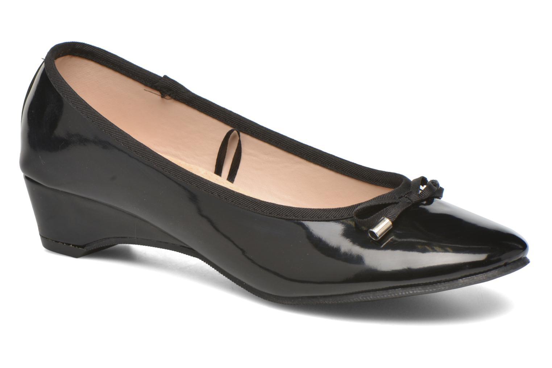 Ballerinas Isotoner Ballerine vernis talon 3 cm schwarz detaillierte ansicht/modell