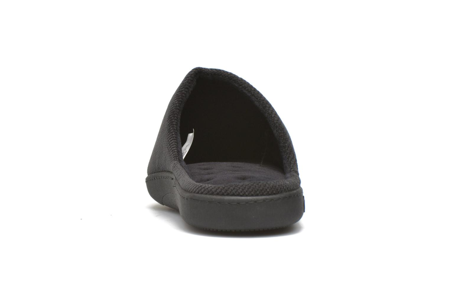 Slippers Isotoner Mule ergonomique velours cotelé Black view from the right