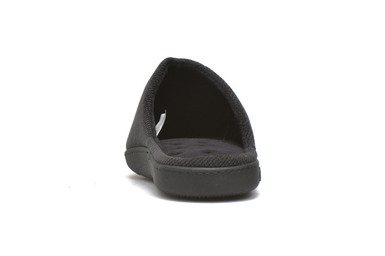 Hausschuhe Isotoner Mule ergonomique velours cotelé schwarz ansicht von rechts