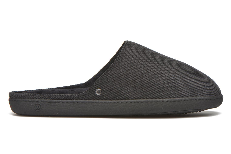 Slippers Isotoner Mule ergonomique velours cotelé Black back view