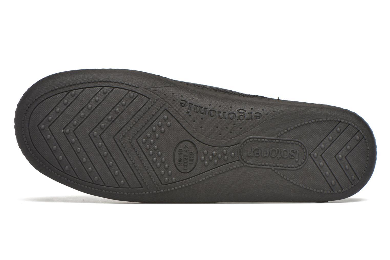 Slippers Isotoner Mule ergonomique velours cotelé Black view from above