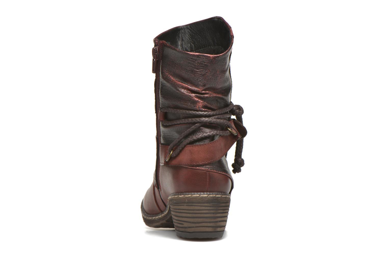 Bottines et boots Rieker Annie K1480 Bordeaux vue droite