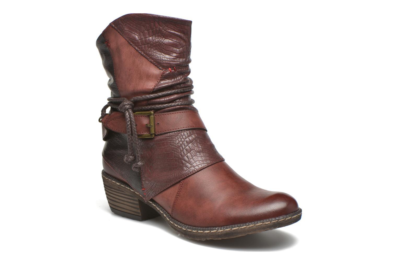 Bottines et boots Rieker Annie K1480 Bordeaux vue détail/paire