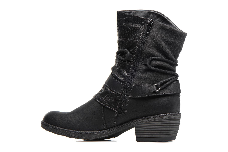 Bottines et boots Rieker Annie K1480 Noir vue face
