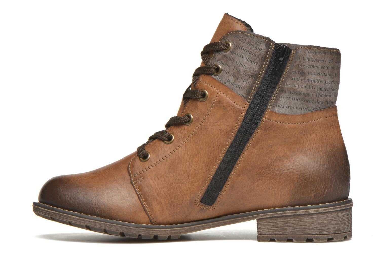 Bottines et boots Rieker Lea K3468 Marron vue face