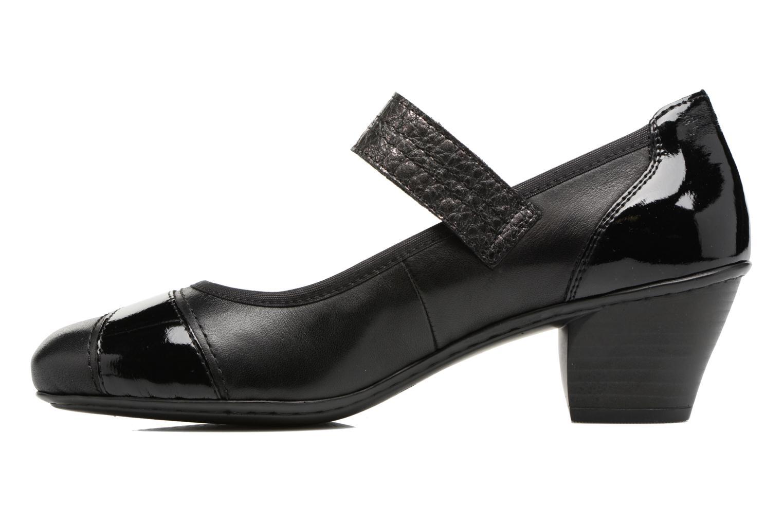 High heels Rieker Mimi 45080 Black front view