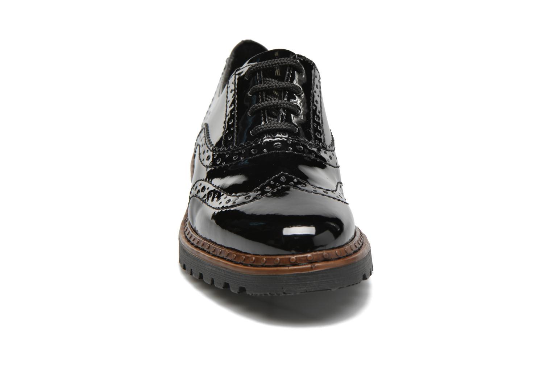 Schnürschuhe Rieker Lisa 54812 schwarz schuhe getragen