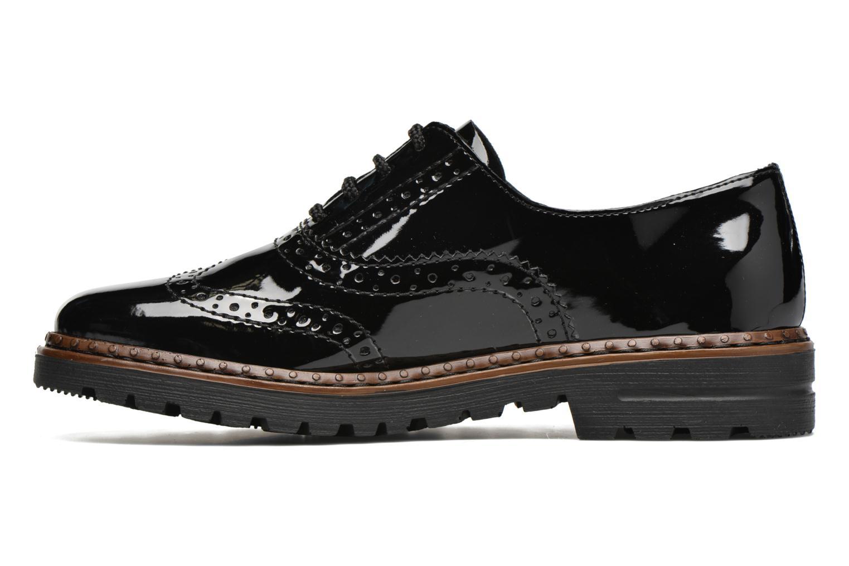 Zapatos con cordones Rieker Lisa 54812 Negro vista de frente