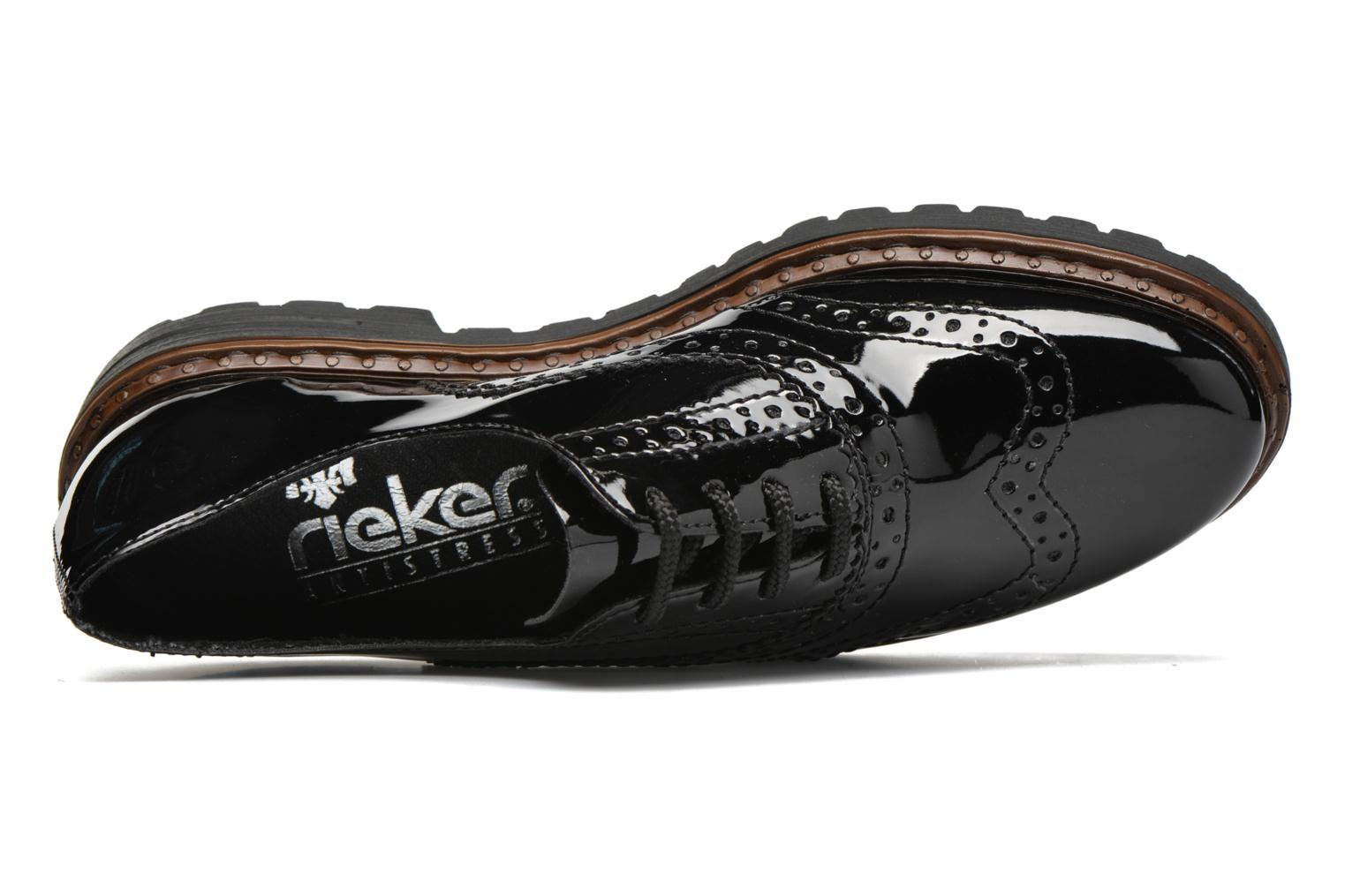 Lace-up shoes Rieker Lisa 54812 Black view from the left