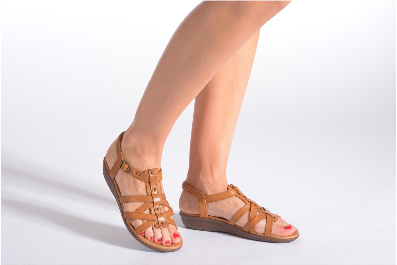 Sandales et nu-pieds Clarks Manilla Bonita Argent vue bas / vue portée sac