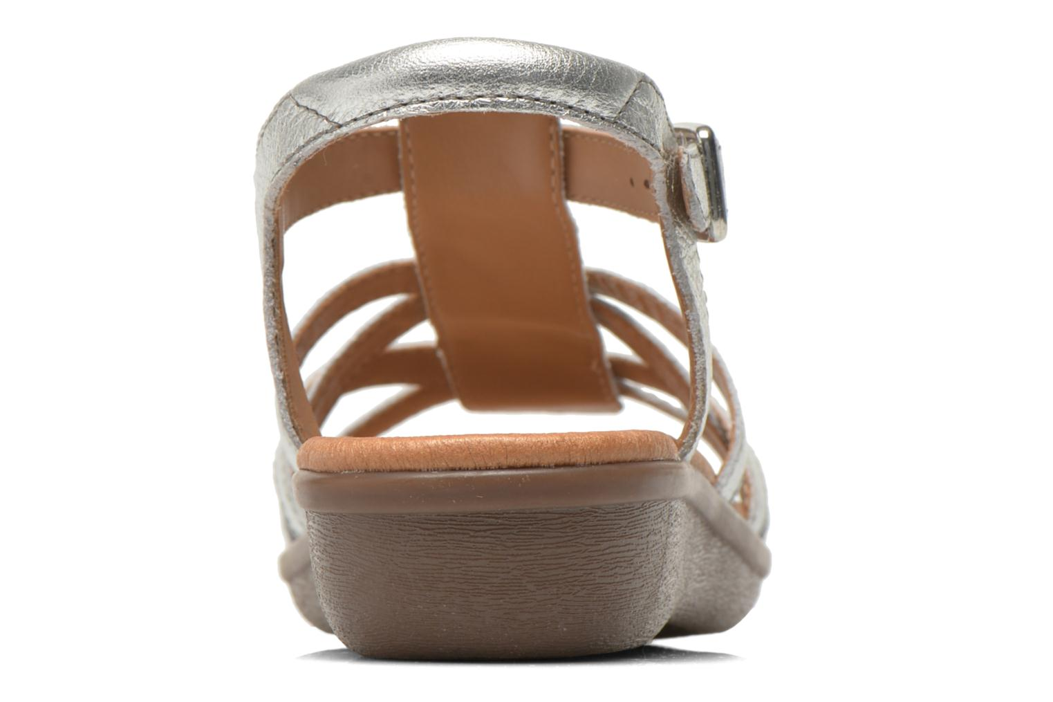 Sandals Clarks Manilla Bonita Silver view from the right