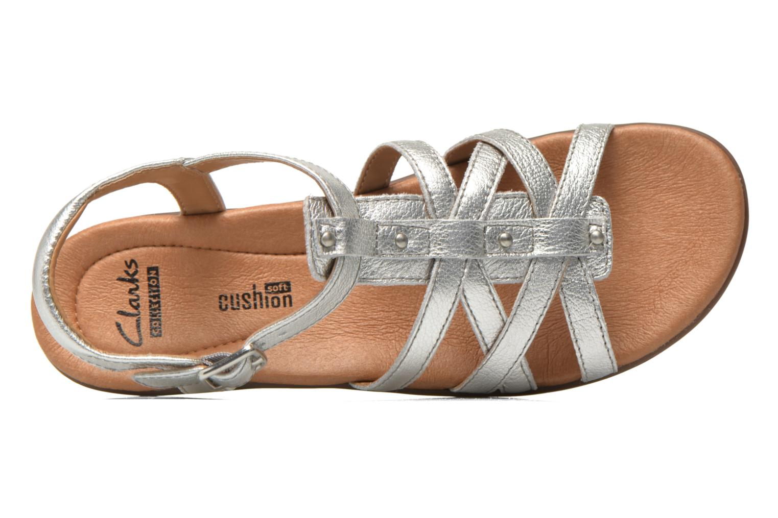 Sandals Clarks Manilla Bonita Silver view from the left