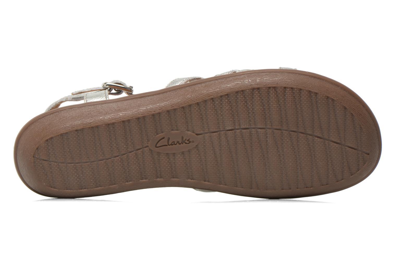 Sandales et nu-pieds Clarks Manilla Bonita Argent vue haut
