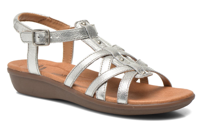 Sandales et nu-pieds Clarks Manilla Bonita Argent vue détail/paire
