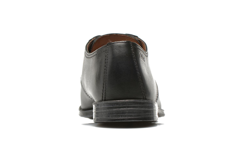 Zapatos con cordones Clarks HawkleyWalk Negro vista lateral derecha