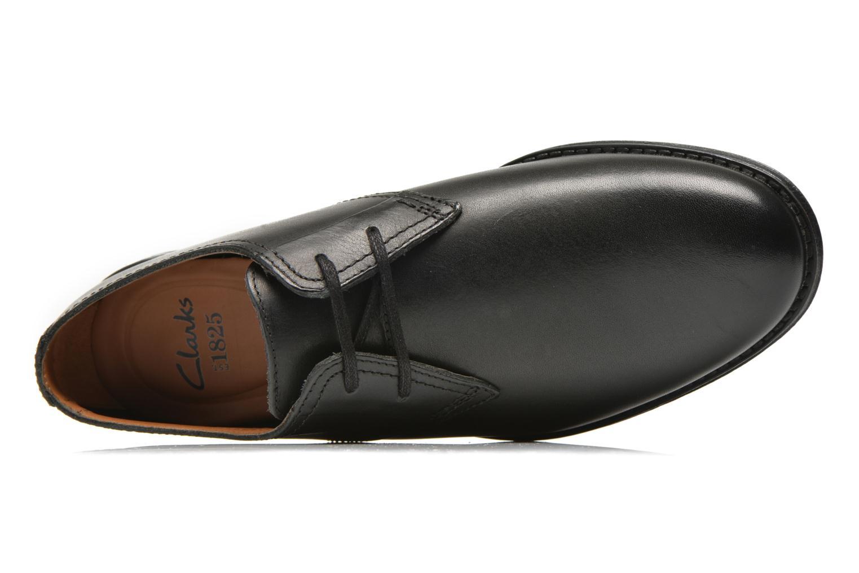 Zapatos con cordones Clarks HawkleyWalk Negro vista lateral izquierda