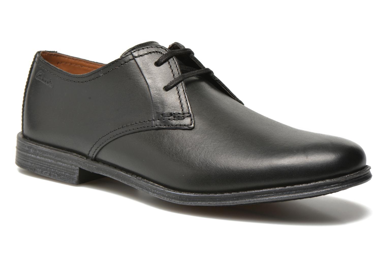 Chaussures à lacets Clarks HawkleyWalk Noir vue détail/paire