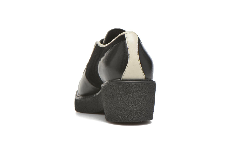 Zapatos con cordones What For Yvy Negro vista lateral derecha