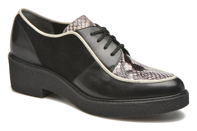 Chaussures à lacets What For Yvy Noir vue détail/paire