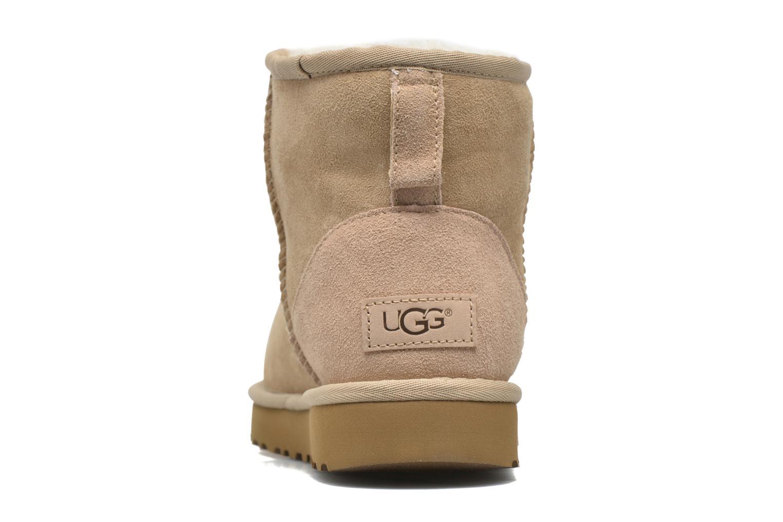 Bottines et boots UGG W Classic Mini II Marron vue droite
