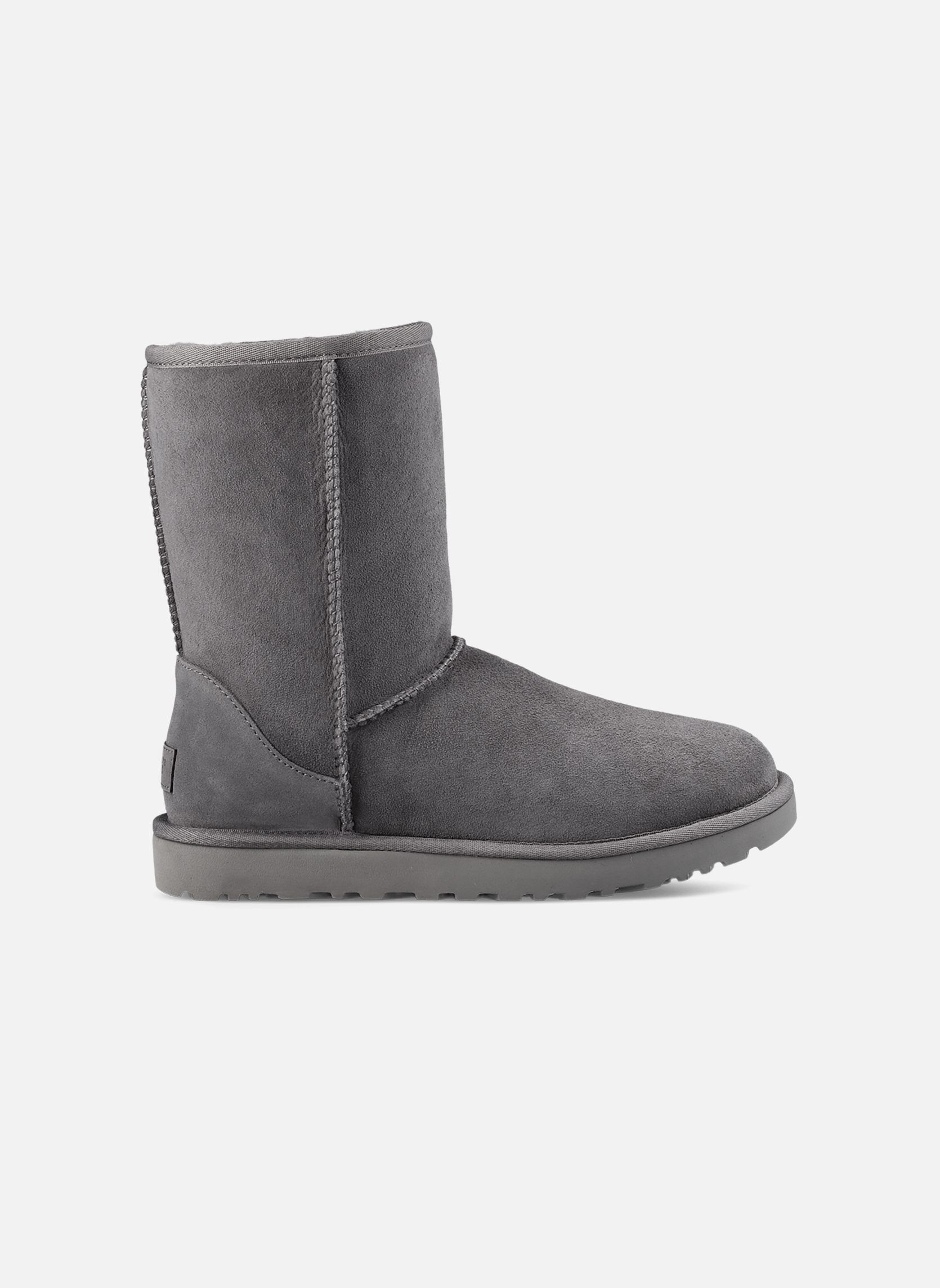 Stiefeletten & Boots UGG W Classic Short II grau ansicht von rechts