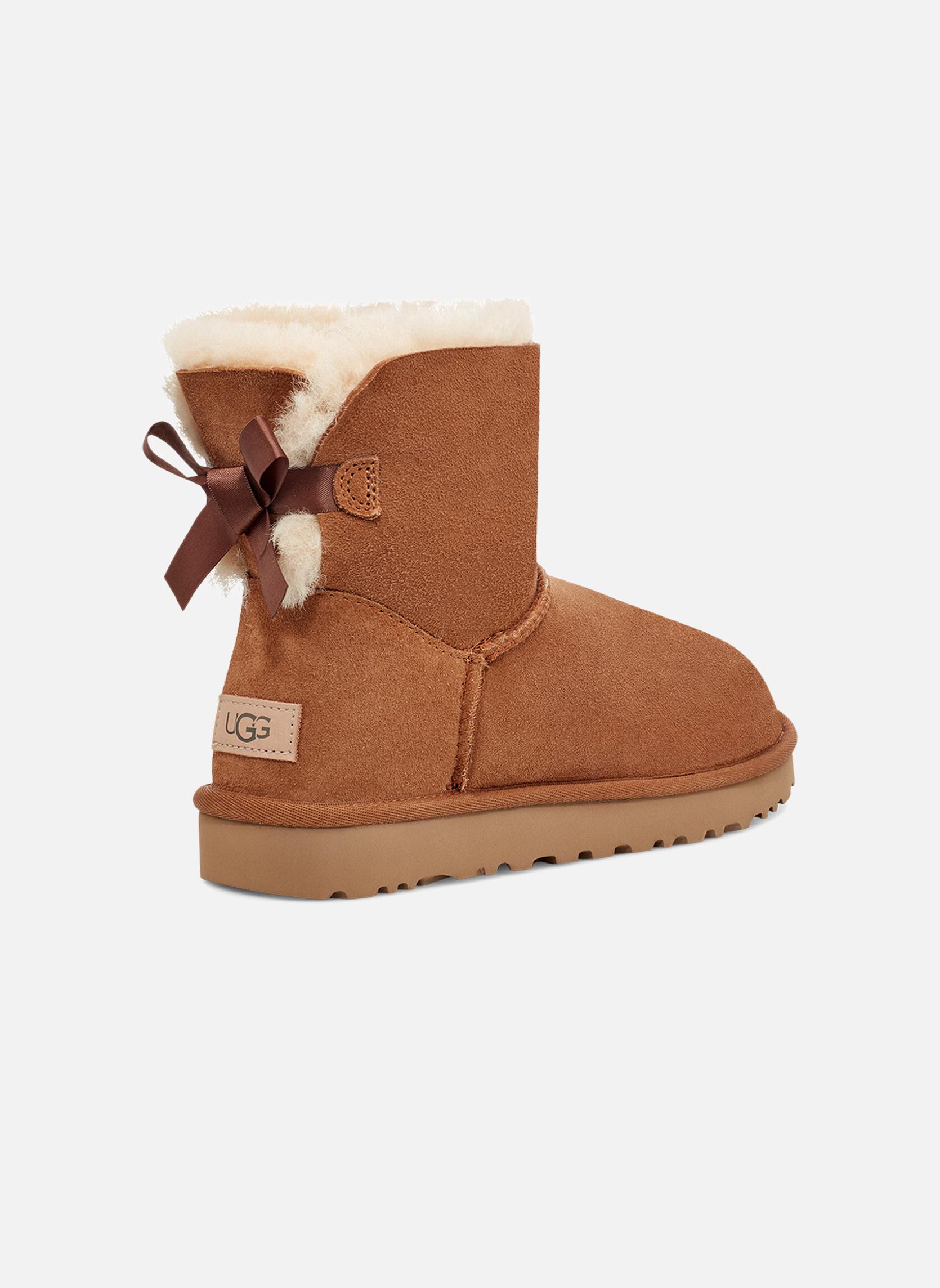 Stiefeletten & Boots UGG W Mini Bailey Bow II braun schuhe getragen