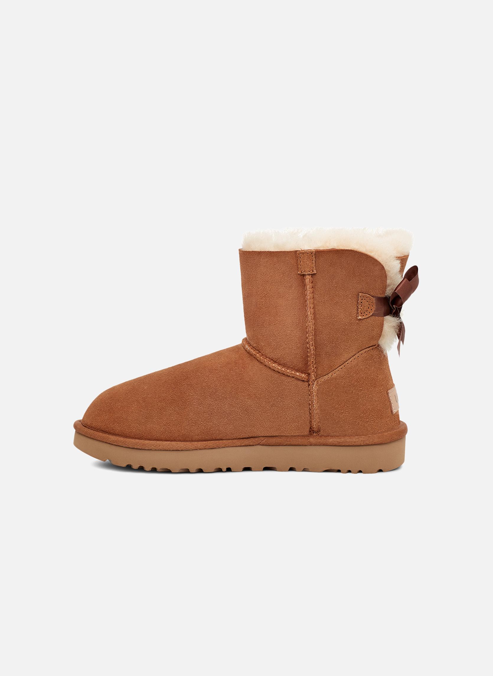 Stiefeletten & Boots UGG W Mini Bailey Bow II braun ansicht von vorne