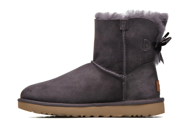 Bottines et boots UGG W Mini Bailey Bow II Violet vue face